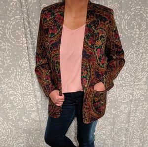 Vintage Paisley Blazer Jacket